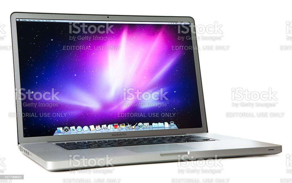 Apple 17-inch MacBook Pro with Clipping Paths royalty-free stock photo