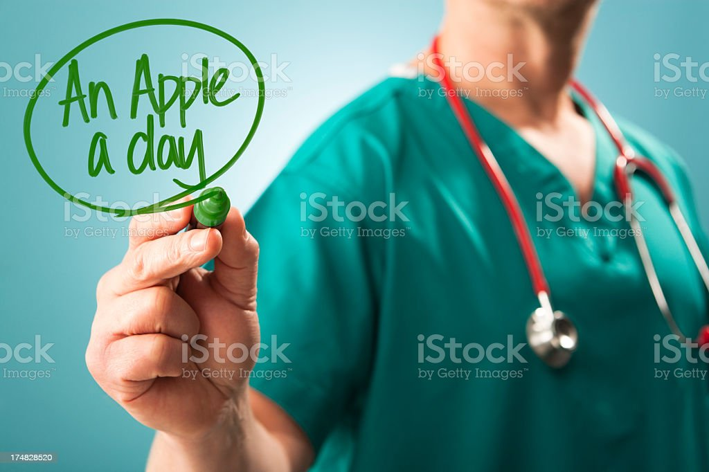Apple a Day keeps the Doctor away royalty-free stock photo