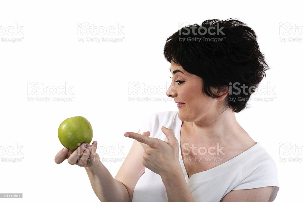 apple a day keeps the doctor away stock photo