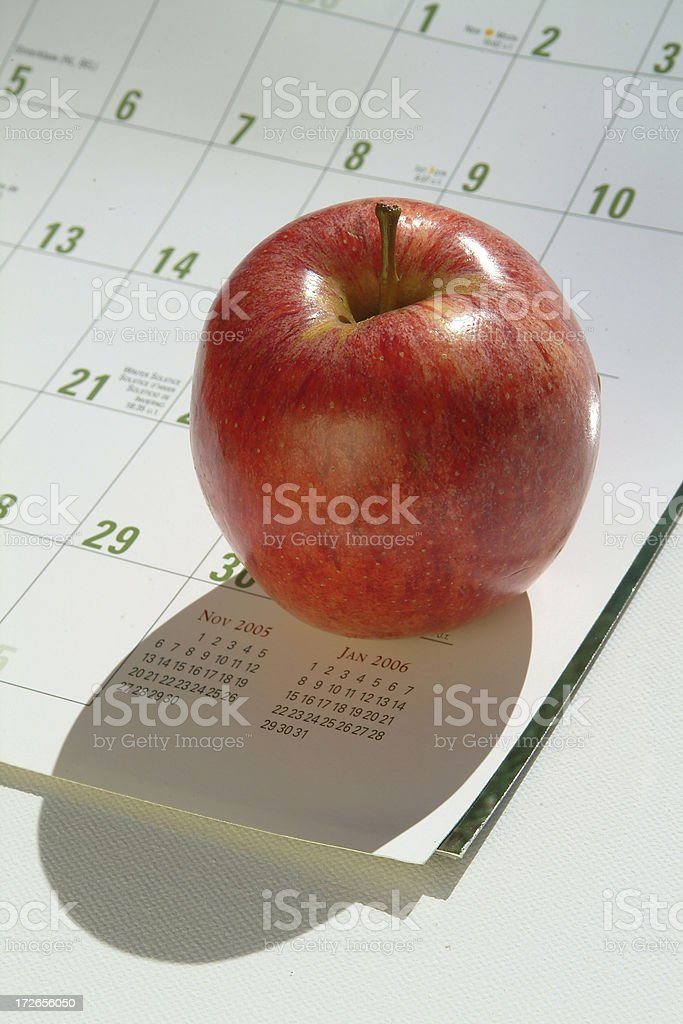 Apple a day ( red ) stock photo