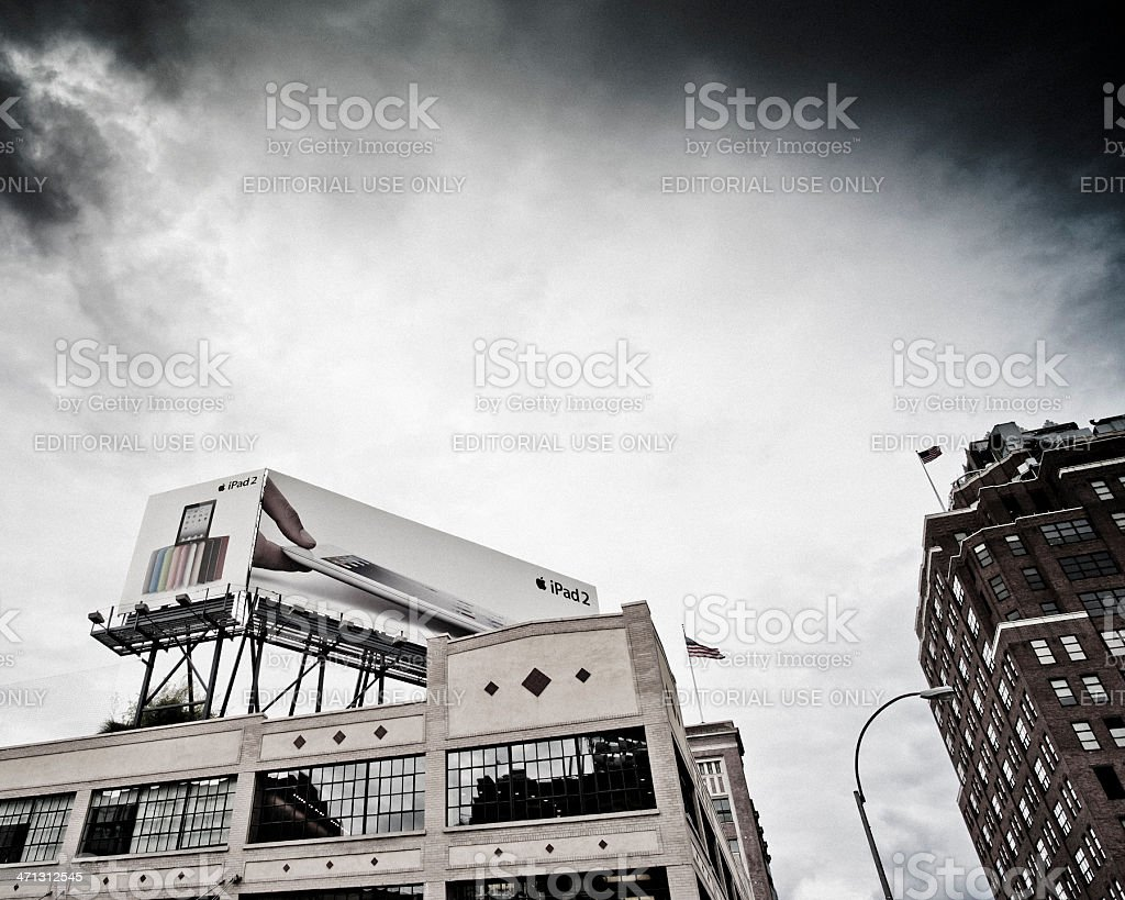 Apple advertising in NYC royalty-free stock photo