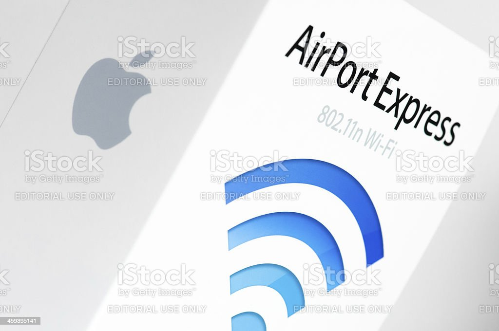 Apple Airport Express package royalty-free stock photo