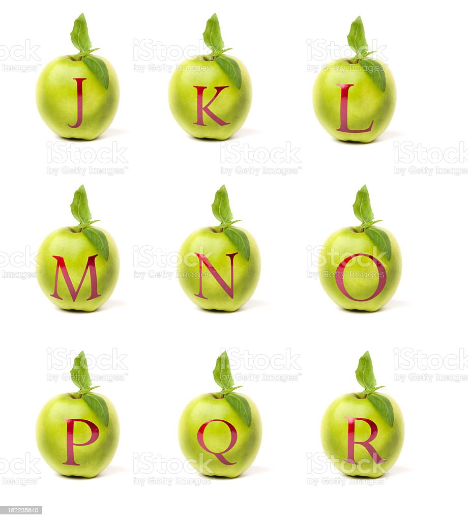 Apple alphabet royalty-free stock photo