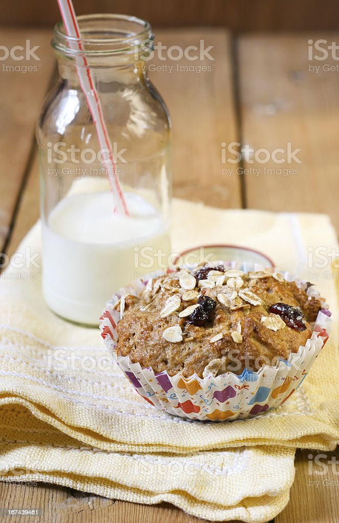 Apple and berry wholewheat crumble muffin royalty-free stock photo