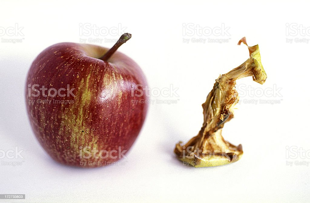 apple and core royalty-free stock photo