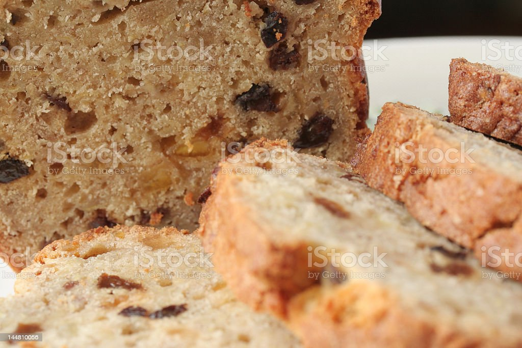 apple and currant loaf stock photo