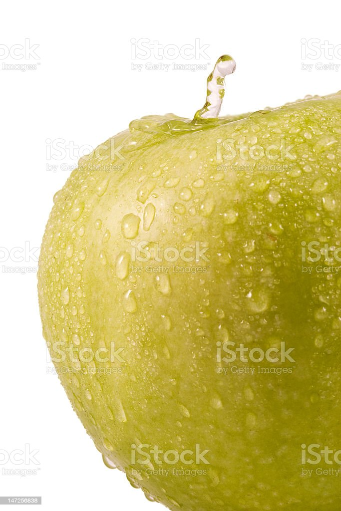 Apple and drops royalty-free stock photo