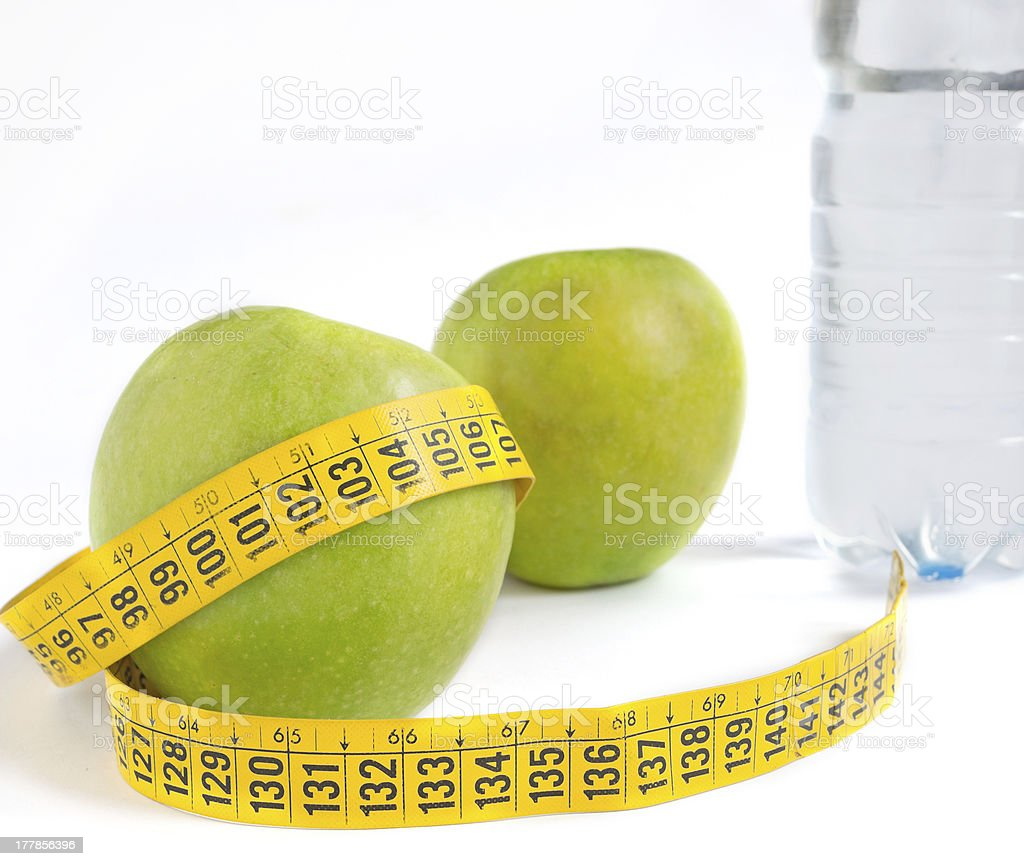 apple and meter royalty-free stock photo