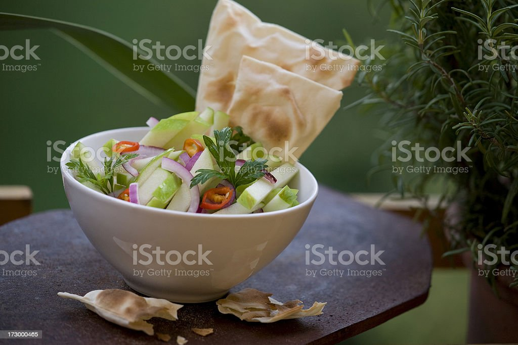 apple and onion salad royalty-free stock photo
