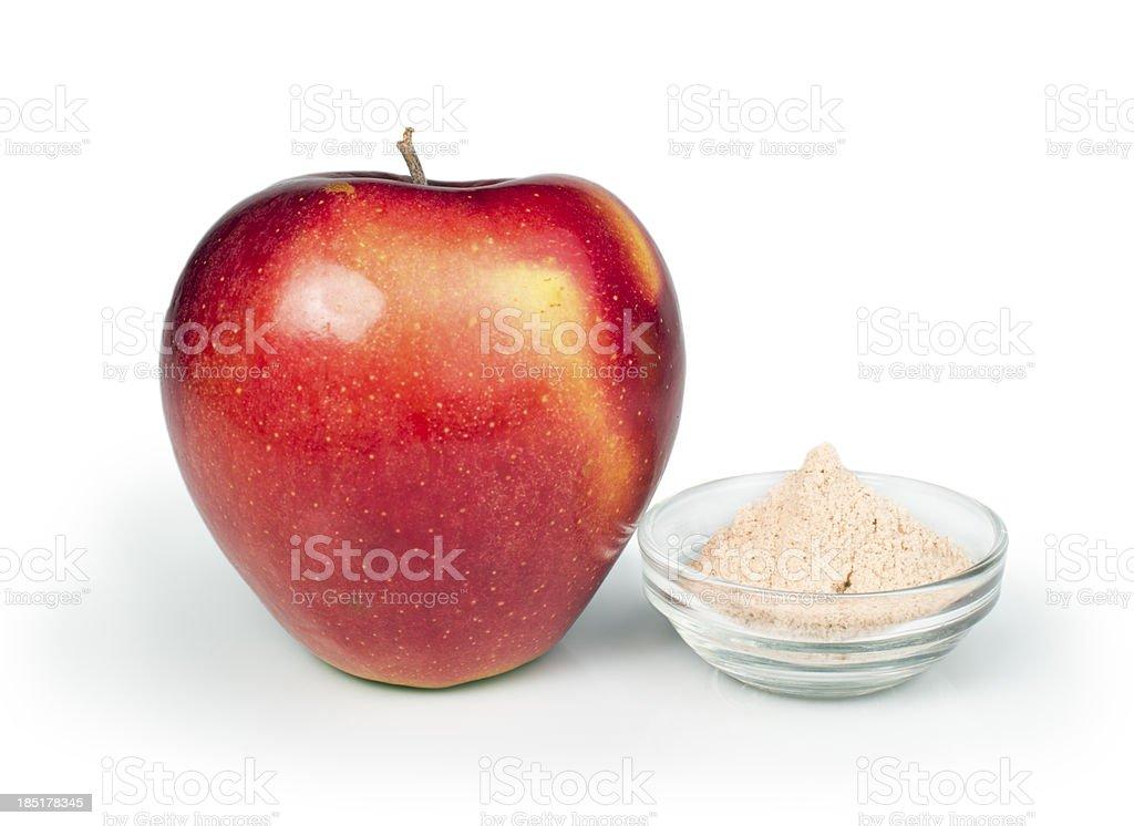 Apple and pectin powder stock photo