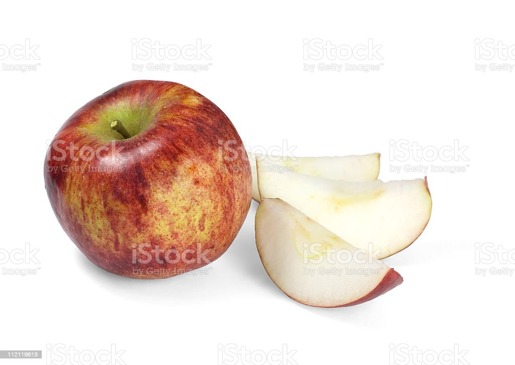 Apple and Slices stock photo