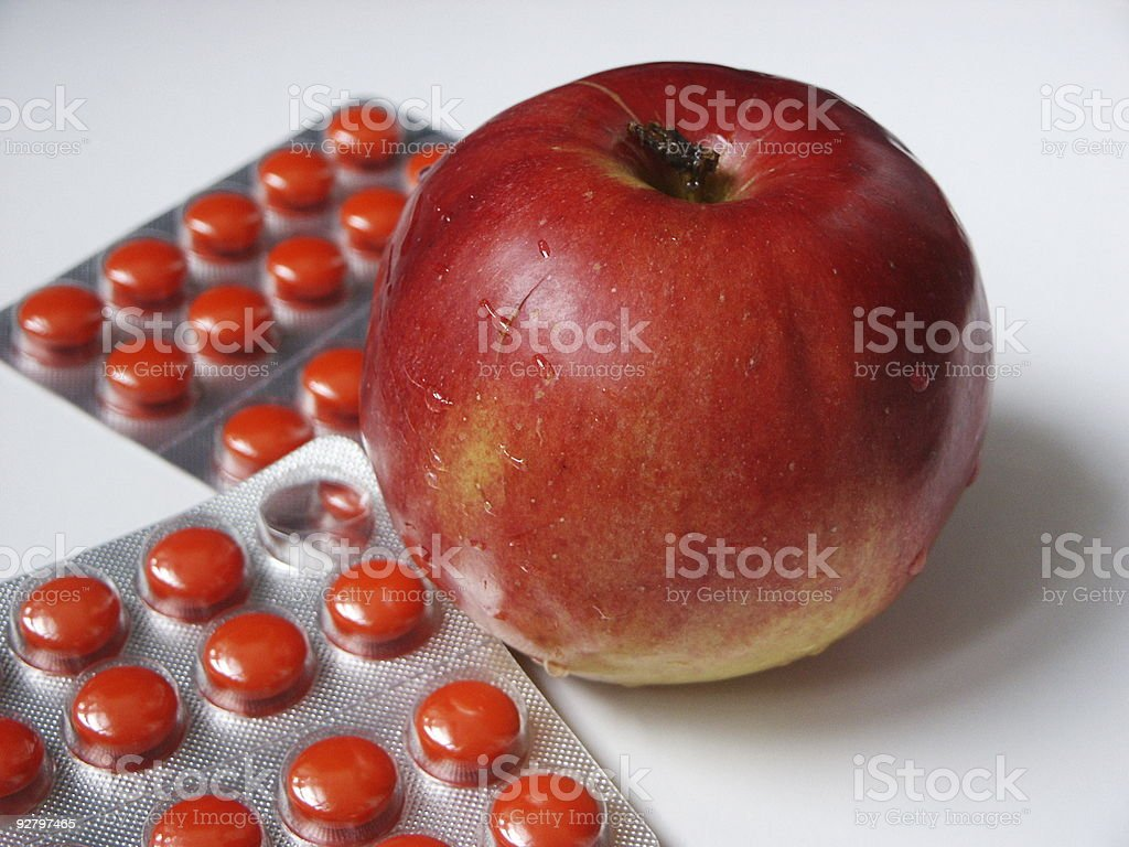 Apple and tablets royalty-free stock photo