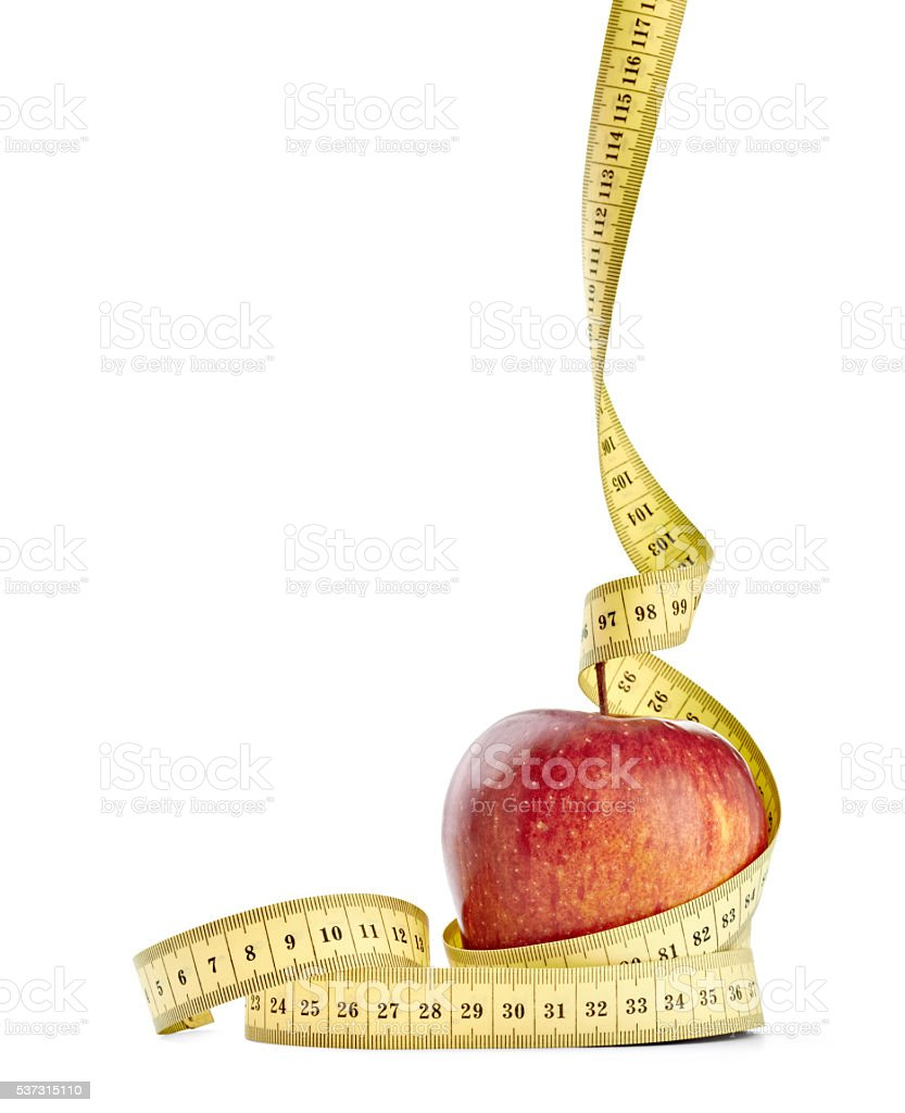 apple and tape diet healthy food fruit stock photo