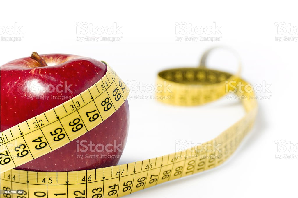 Apple And Tape Measure royalty-free stock photo