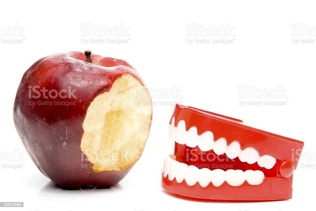 Apple and Teeth stock photo