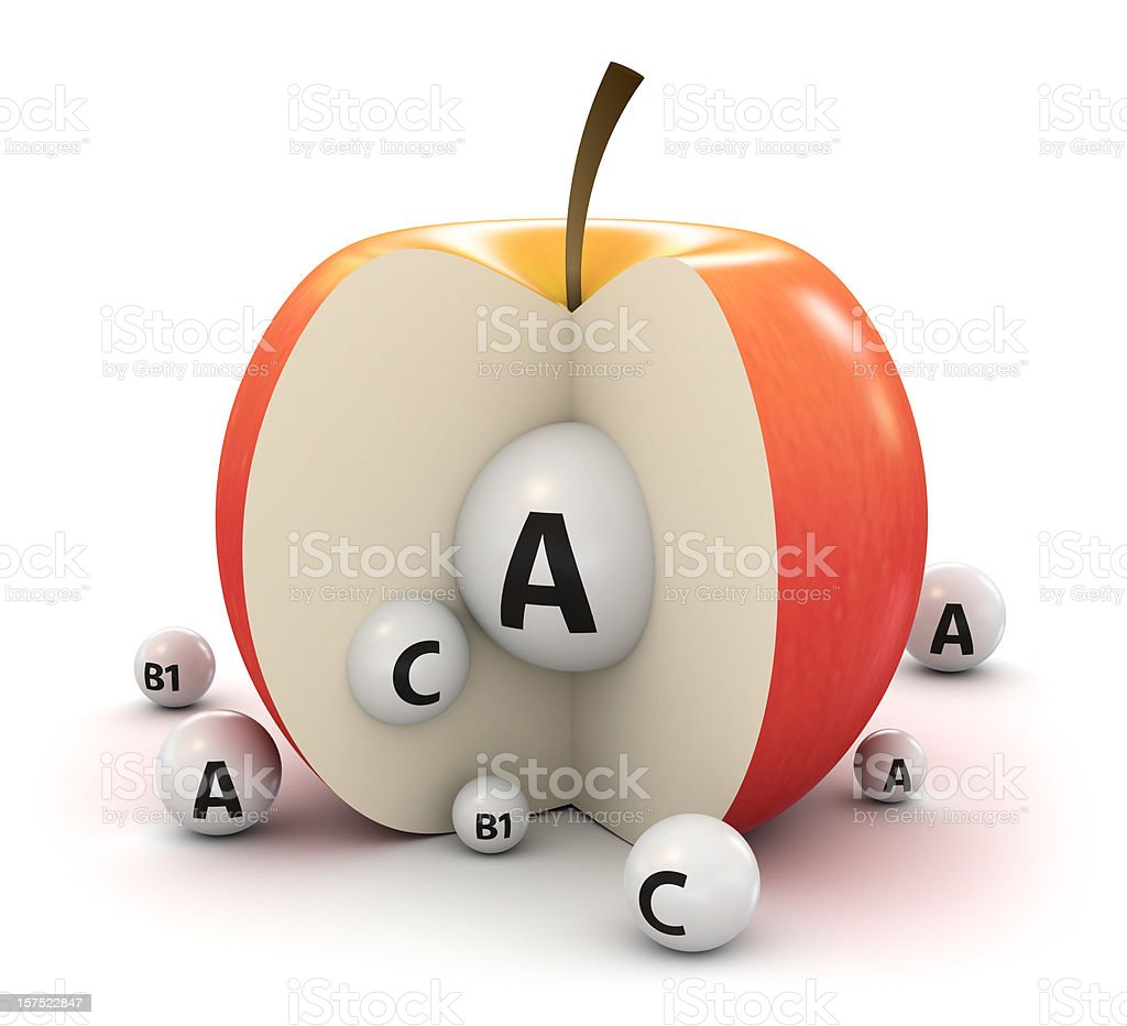 Apple and vitamins royalty-free stock photo