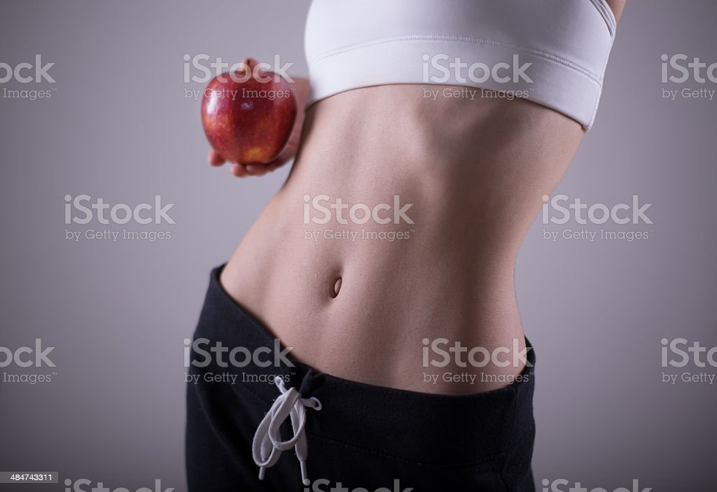 Apple and weight loss stock photo