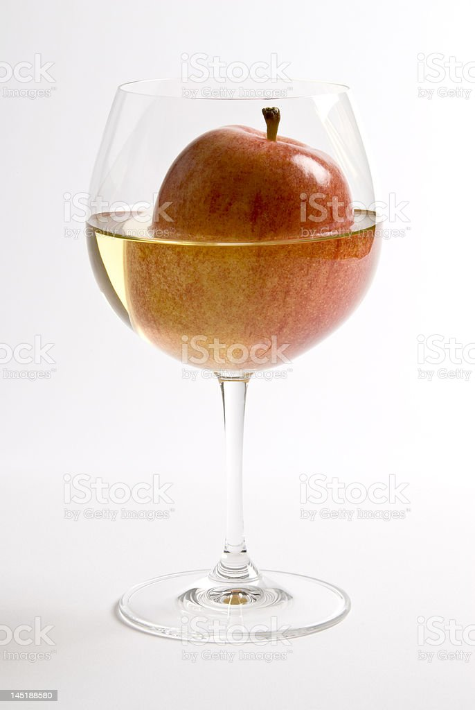 Apple and Wine royalty-free stock photo