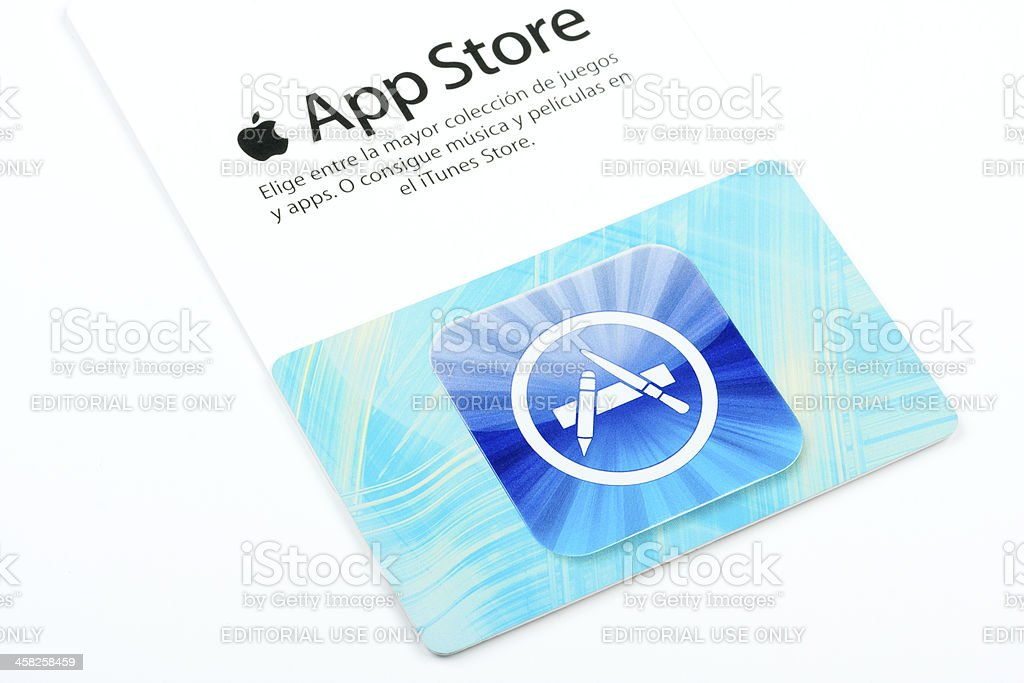Apple App Store card royalty-free stock photo