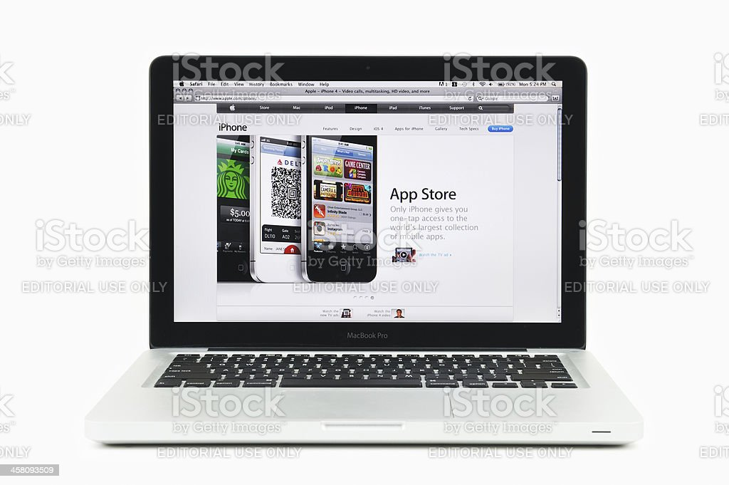 Apple App Store Featured on MacBook Pro royalty-free stock photo