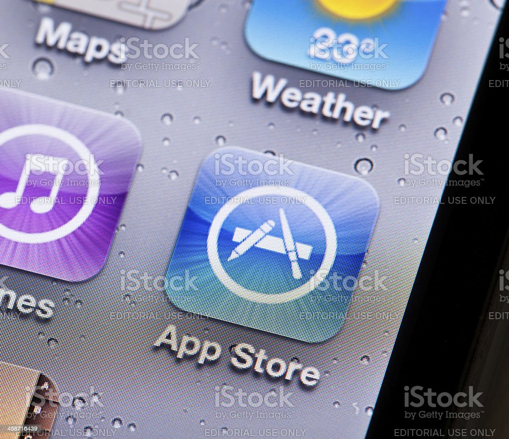Apple App Store royalty-free stock photo