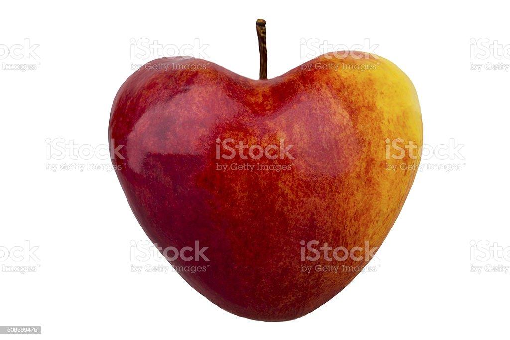 apple como um coração foto royalty-free