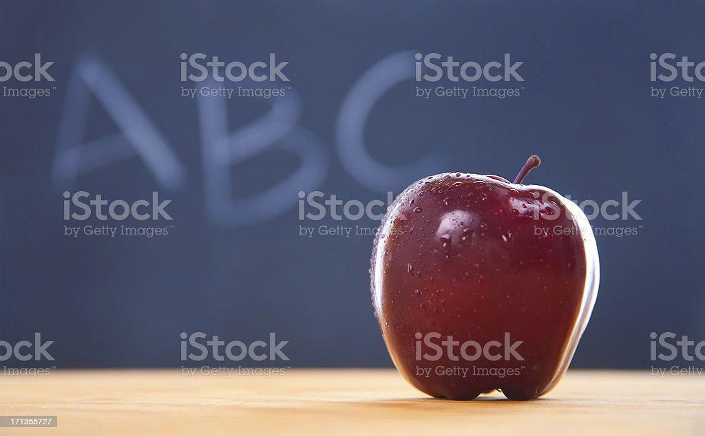 Apple at School royalty-free stock photo