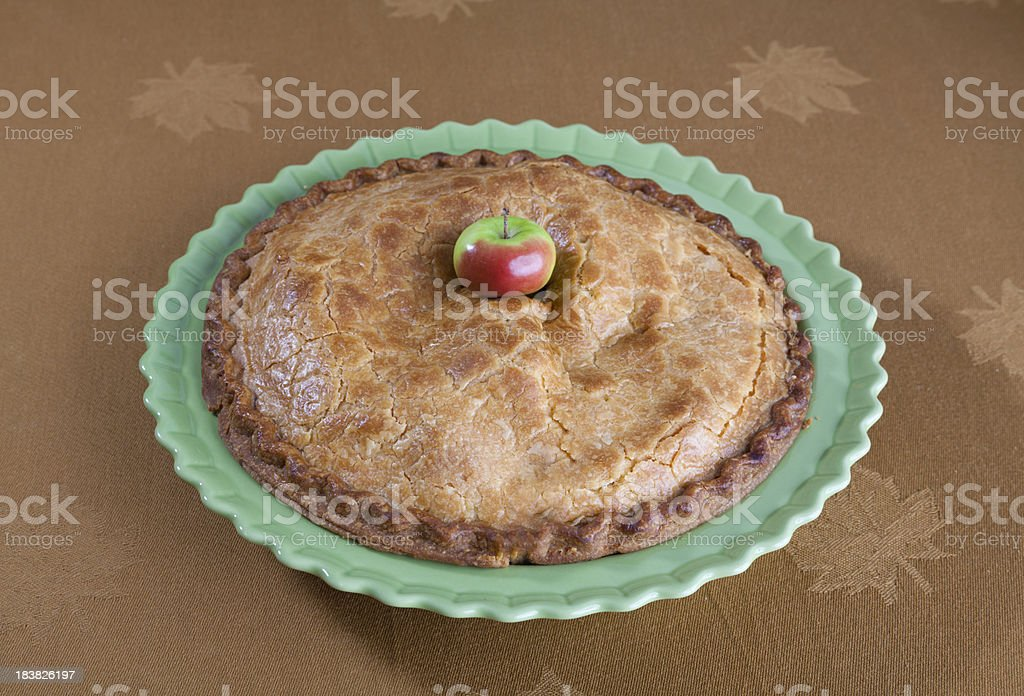 Apple & Autumn Fruit Pie; Traditional American Thanksgiving Holiday Dessert Food royalty-free stock photo