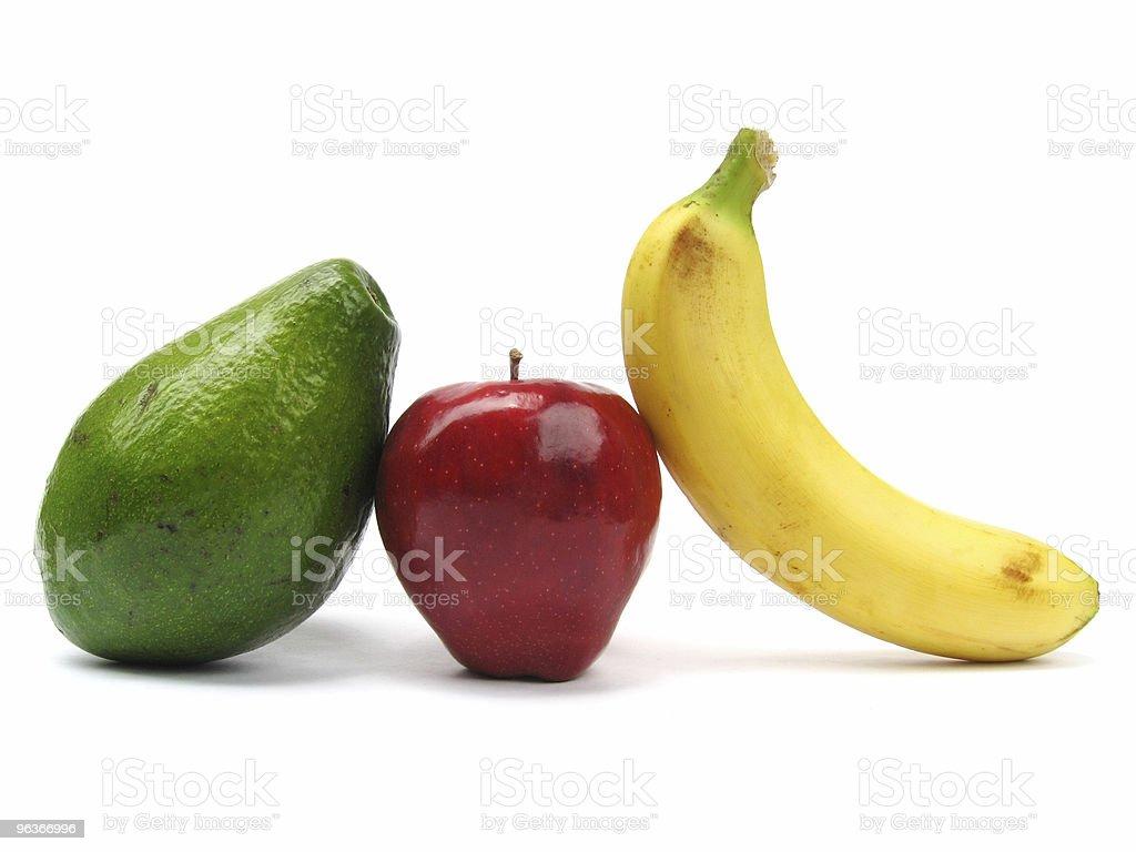 Apple Avocado Banana royalty-free stock photo