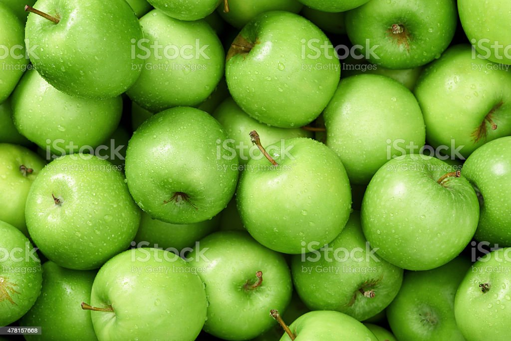 Apple background stock photo
