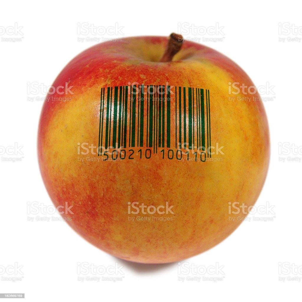 apple barcode royalty-free stock photo