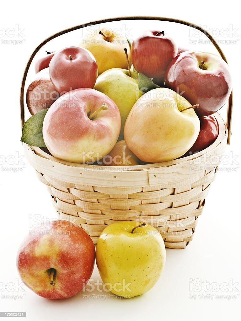 apple basket 1 stock photo