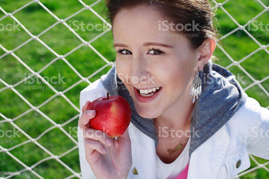 Apple beauty stock photo