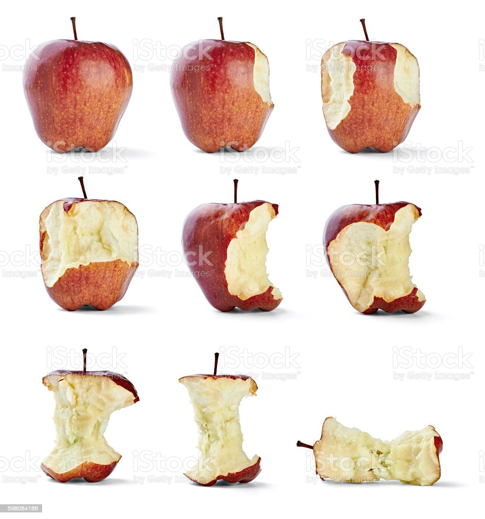 apple bite fruit healthy diet food stock photo