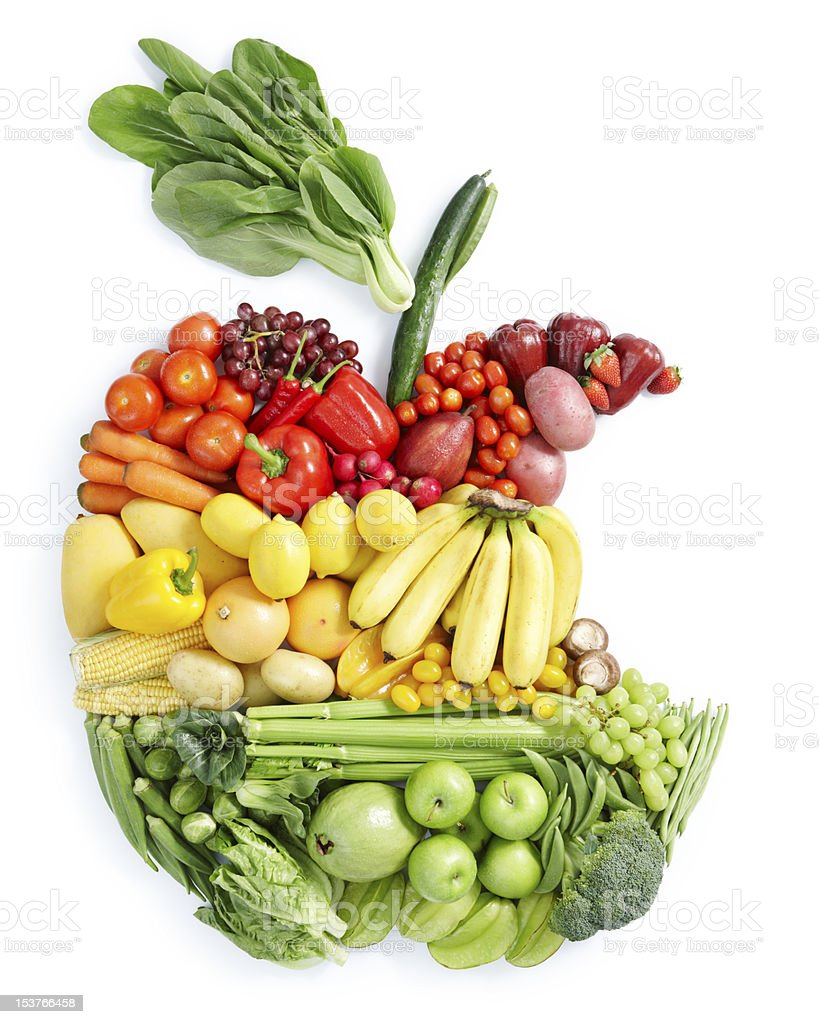 apple bite: healthy food stock photo