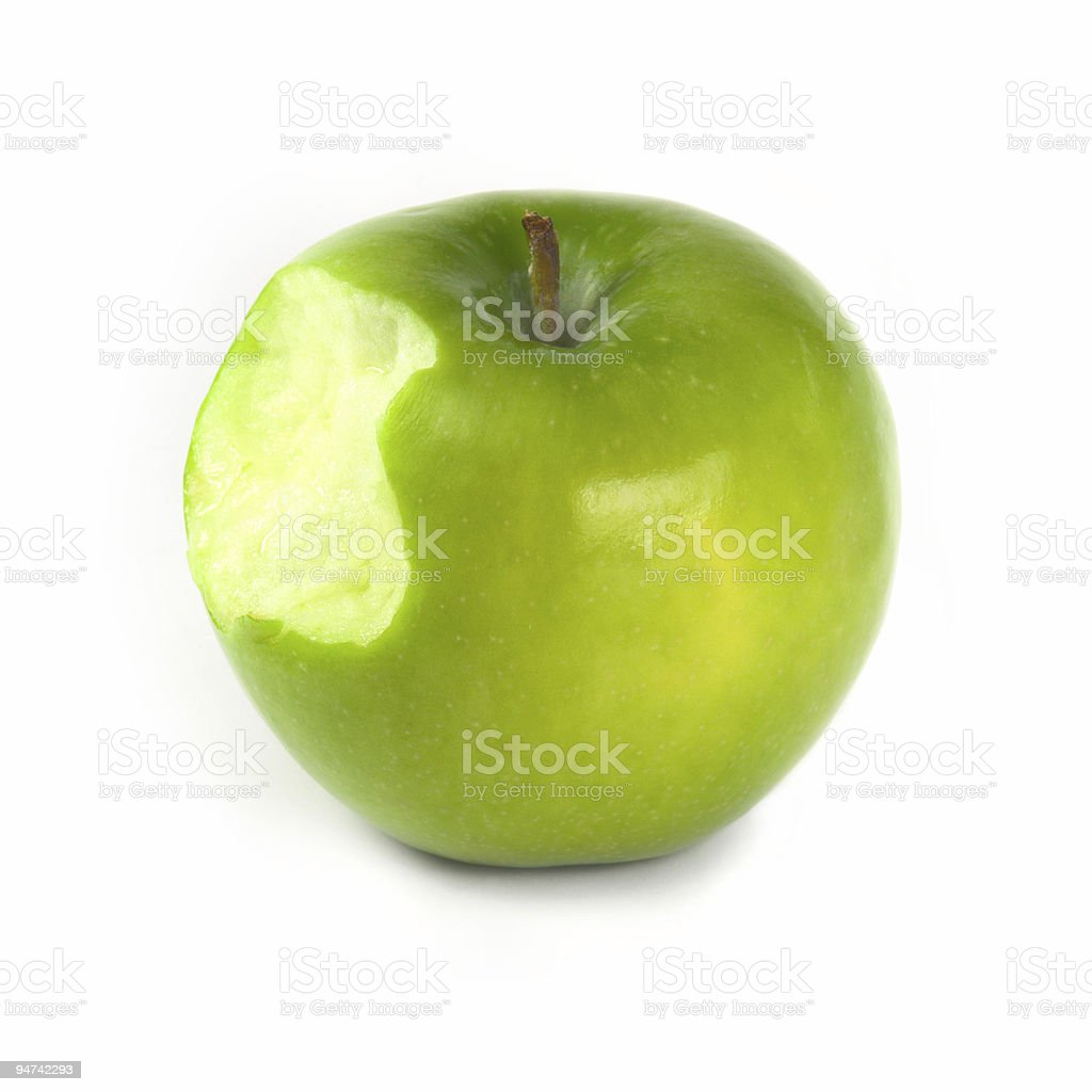 Apple bite royalty-free stock photo