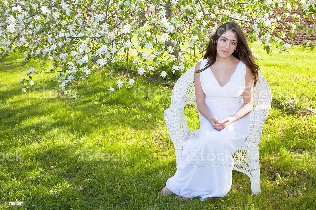 Apple Blossom Woman royalty-free stock photo