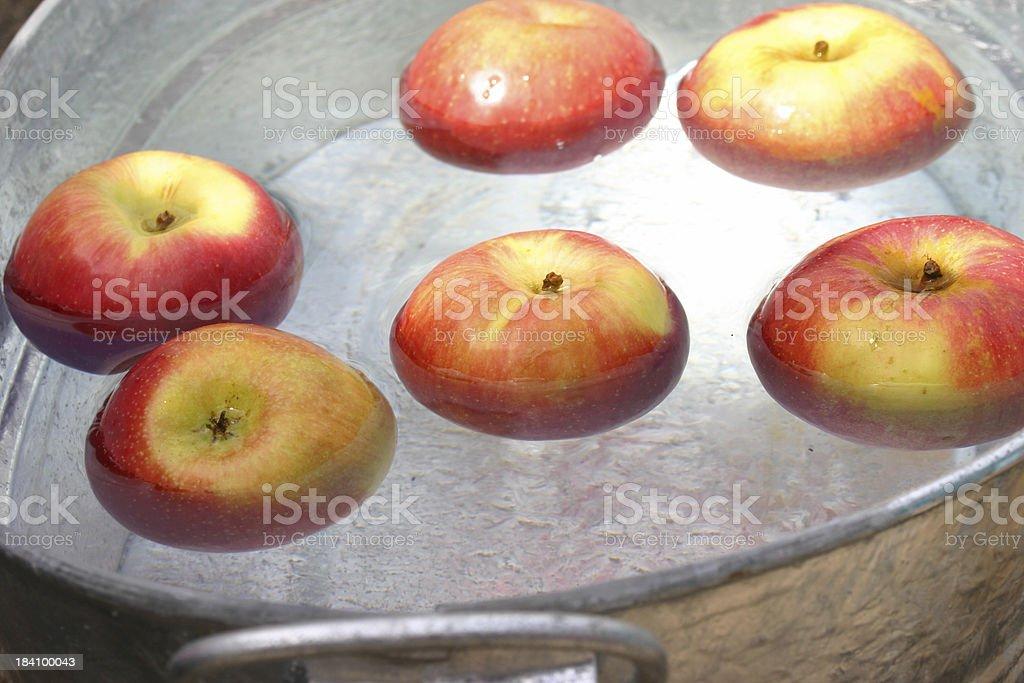 apple bobbing royalty-free stock photo