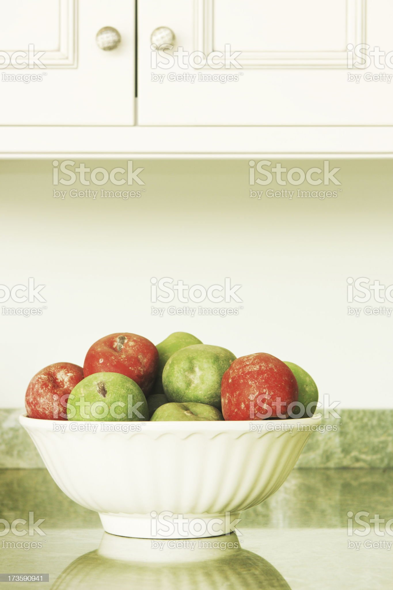 Apple Bowl Kitchen Decor royalty-free stock photo