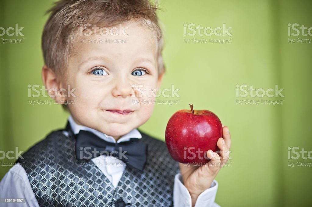 Apple boy royalty-free stock photo