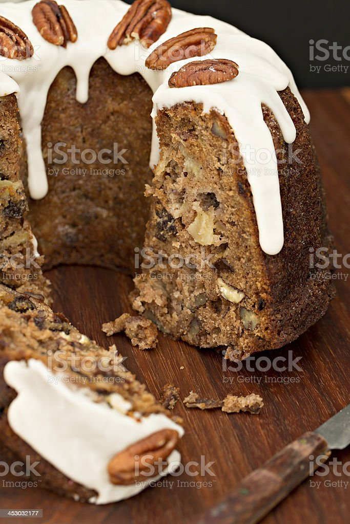 Apple Bundt Cake stock photo