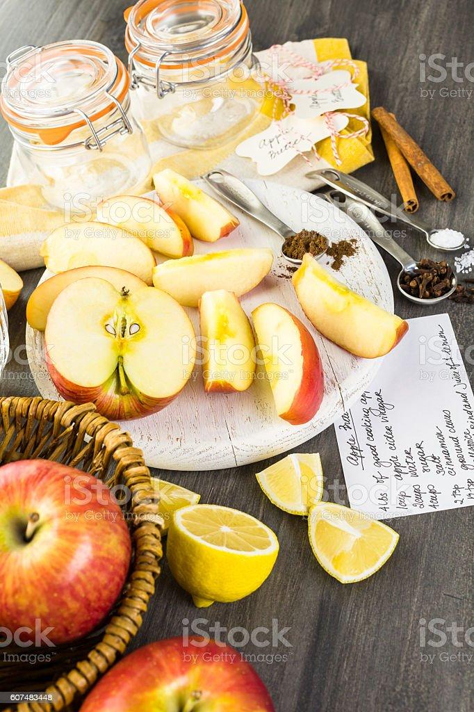 Apple butter stock photo