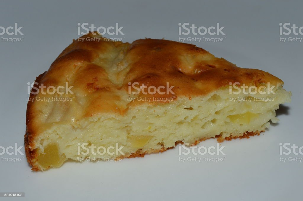 Apple Cake Slice royalty-free stock photo