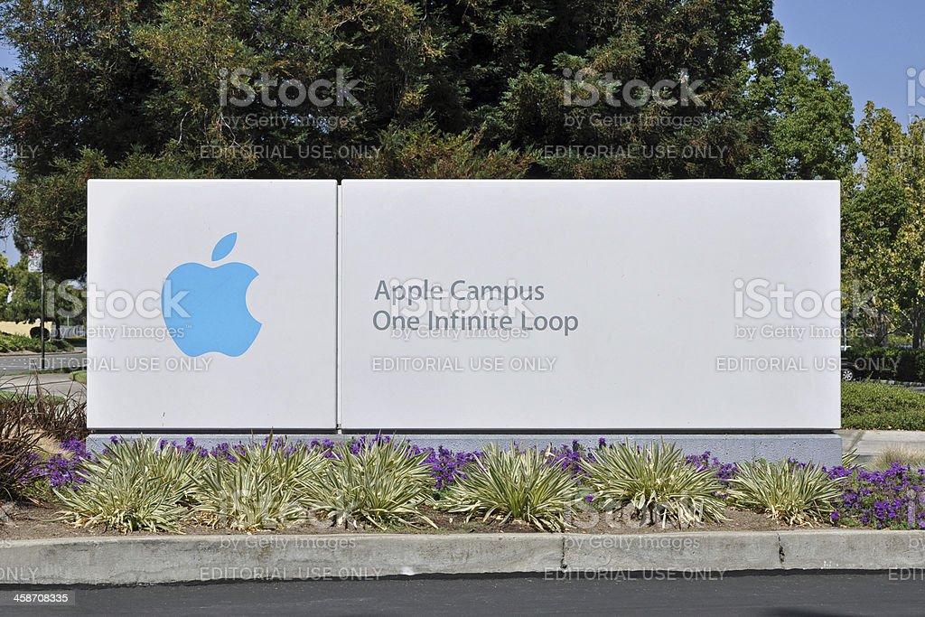 Apple Campus One Infinite Loop Sign stock photo