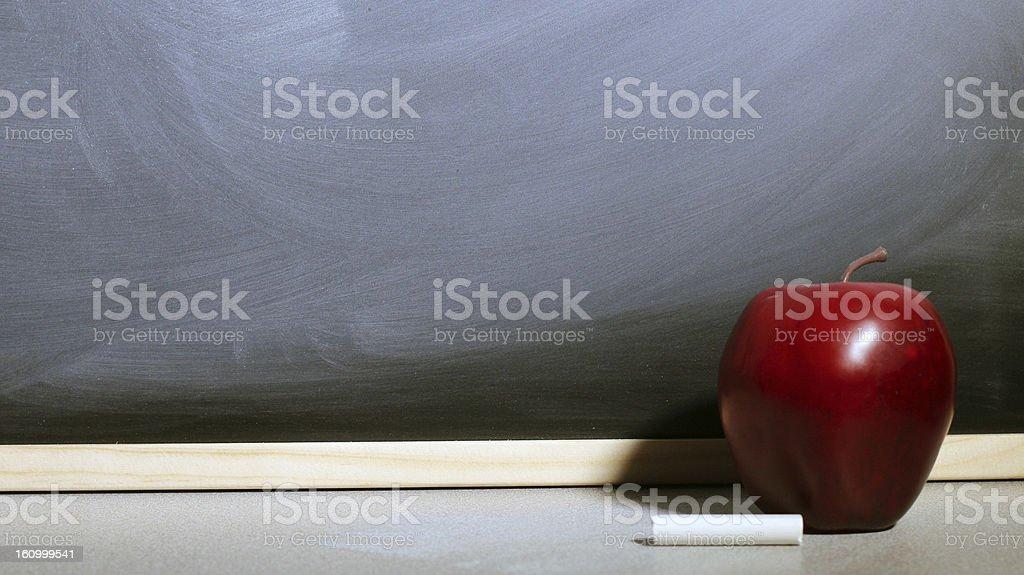 Apple Chalkboard stock photo