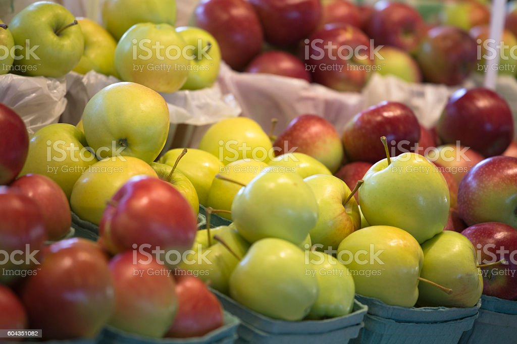Apple Choice in Market stock photo