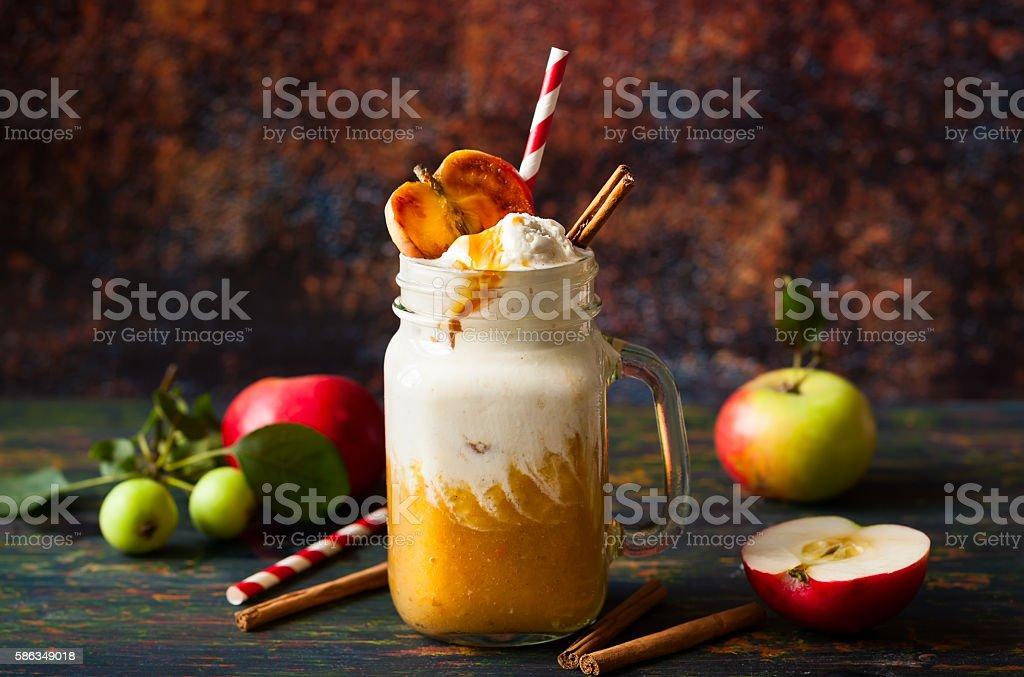Apple cider float stock photo