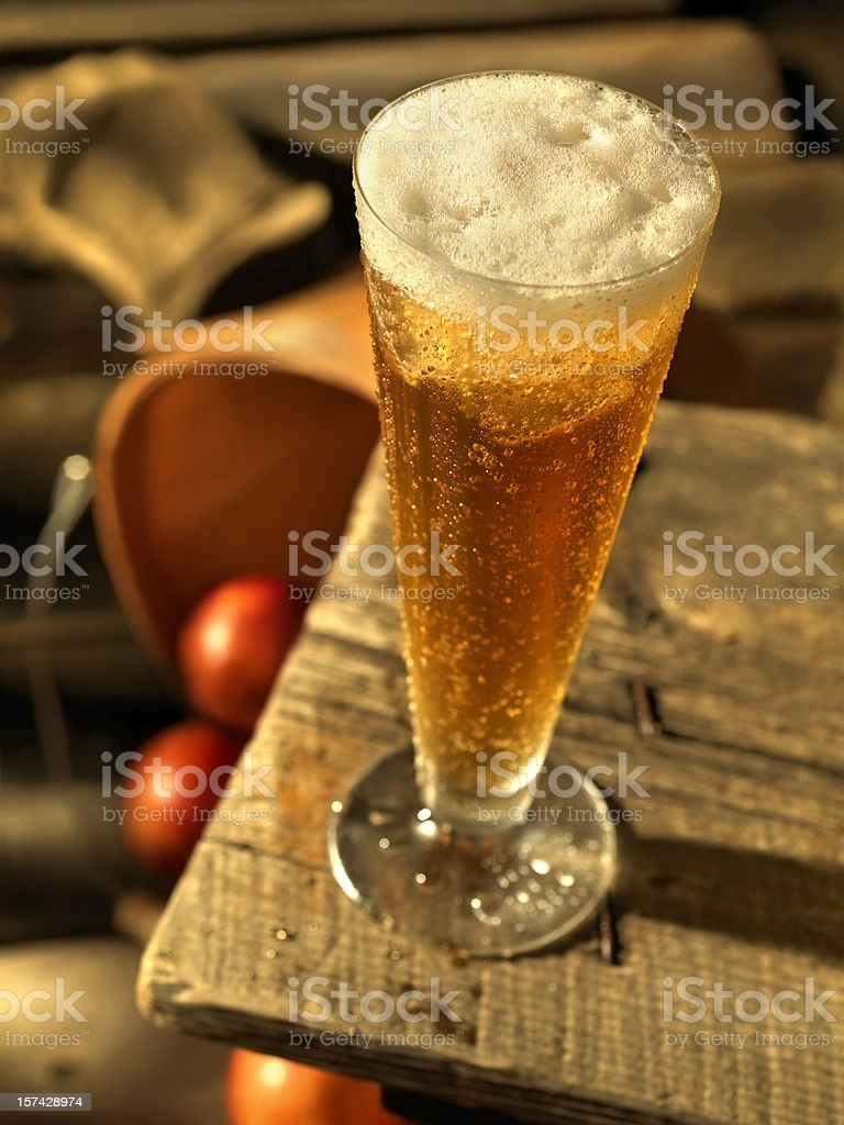 Apple Cider on the Porch royalty-free stock photo
