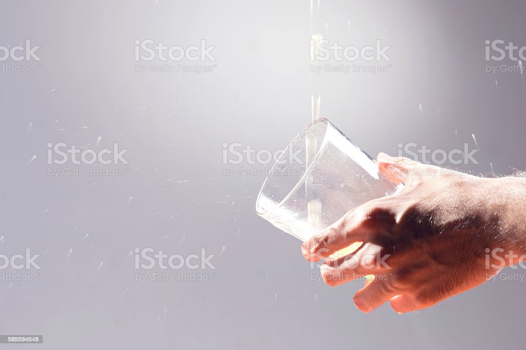Apple cider, over a grey background. stock photo