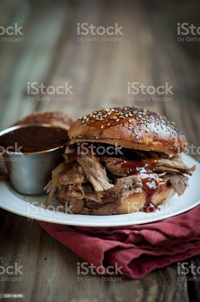 Apple Cider Pulled Pork stock photo